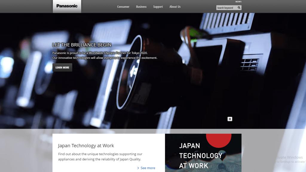 海外で評価されている製造業のグローバルサイト10選_日本企業編_panasonic