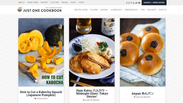 インバウンド(訪日外国人観光客)向けウェブサイト JUST ONE COOKBOOK