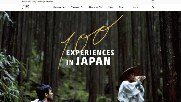 インバウンド(訪日外国人観光客)向けウェブサイト JNTO