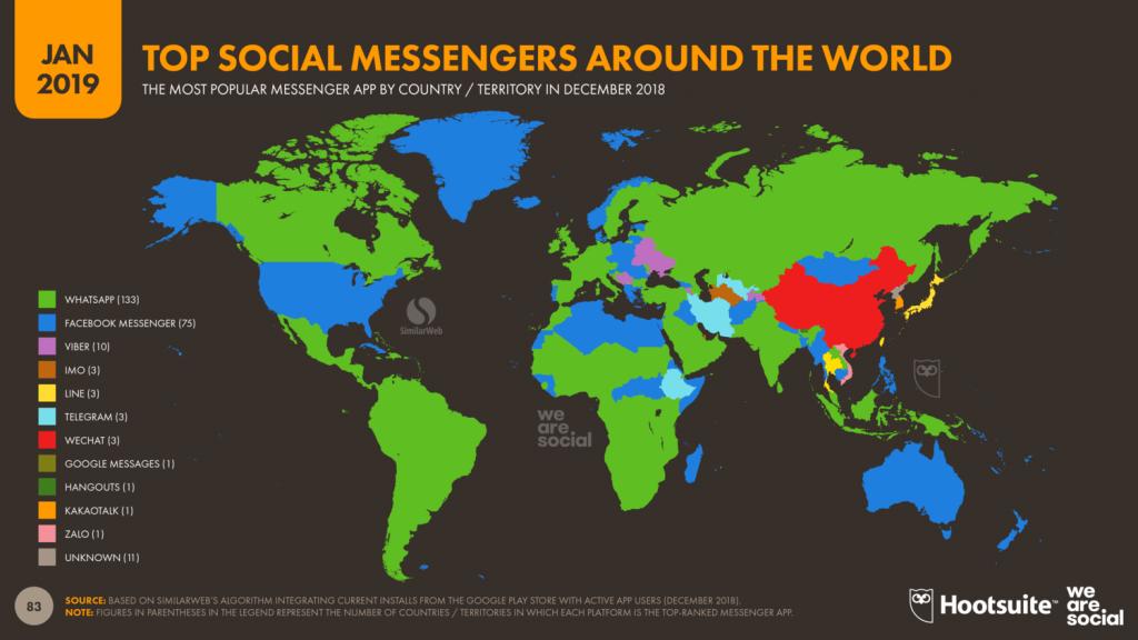 「2019年を総括!」世界のデジタル事情、要注目ポイント-世界各国における主要SNS