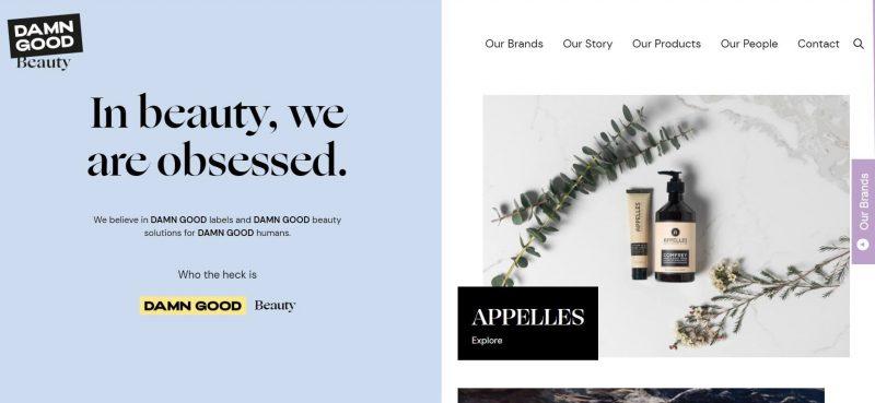 Damn Good beauty website