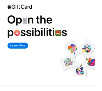 best display ads -Apple gift card example