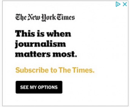 The New Yourk Times banner ads