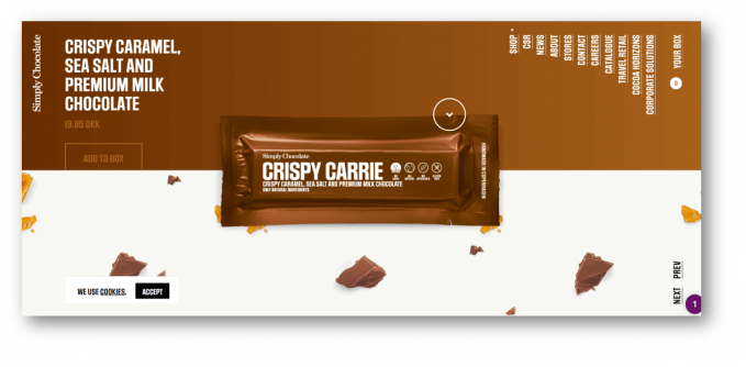 SimplyChocolate ウェブサイト
