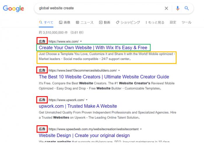 Googleリスティング広告‐サンプル