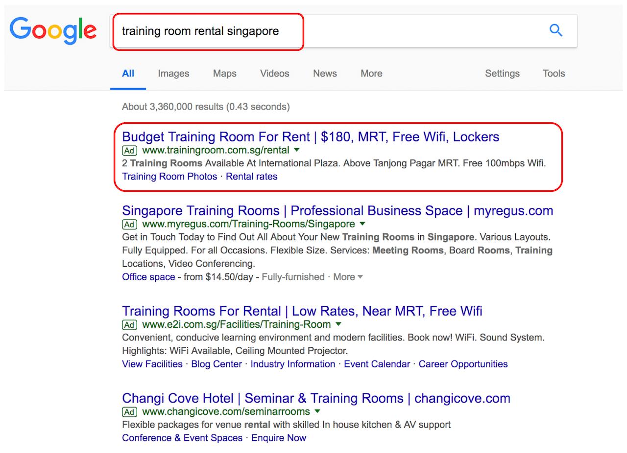 google ads content