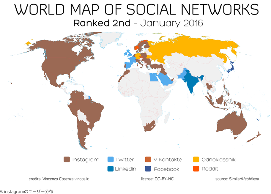 WORLD MAP OF SOCIAL NETWORK